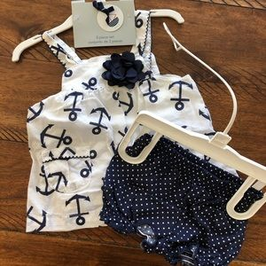 Nautical Top and Bloomers Set